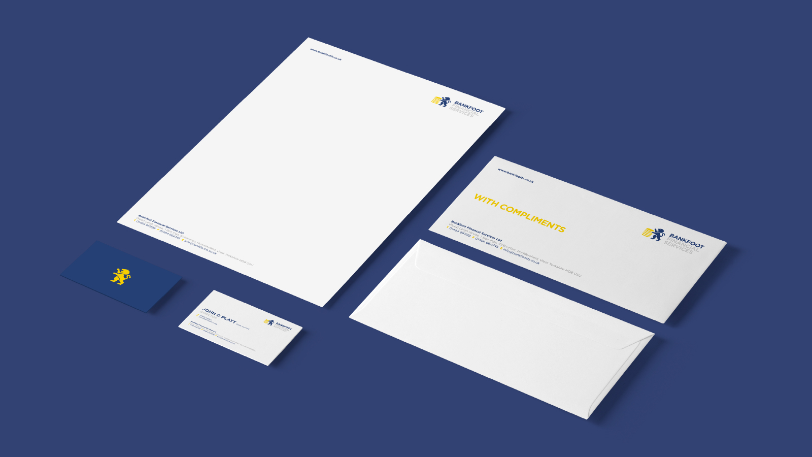 Bankfoot Financial Services Branding Design