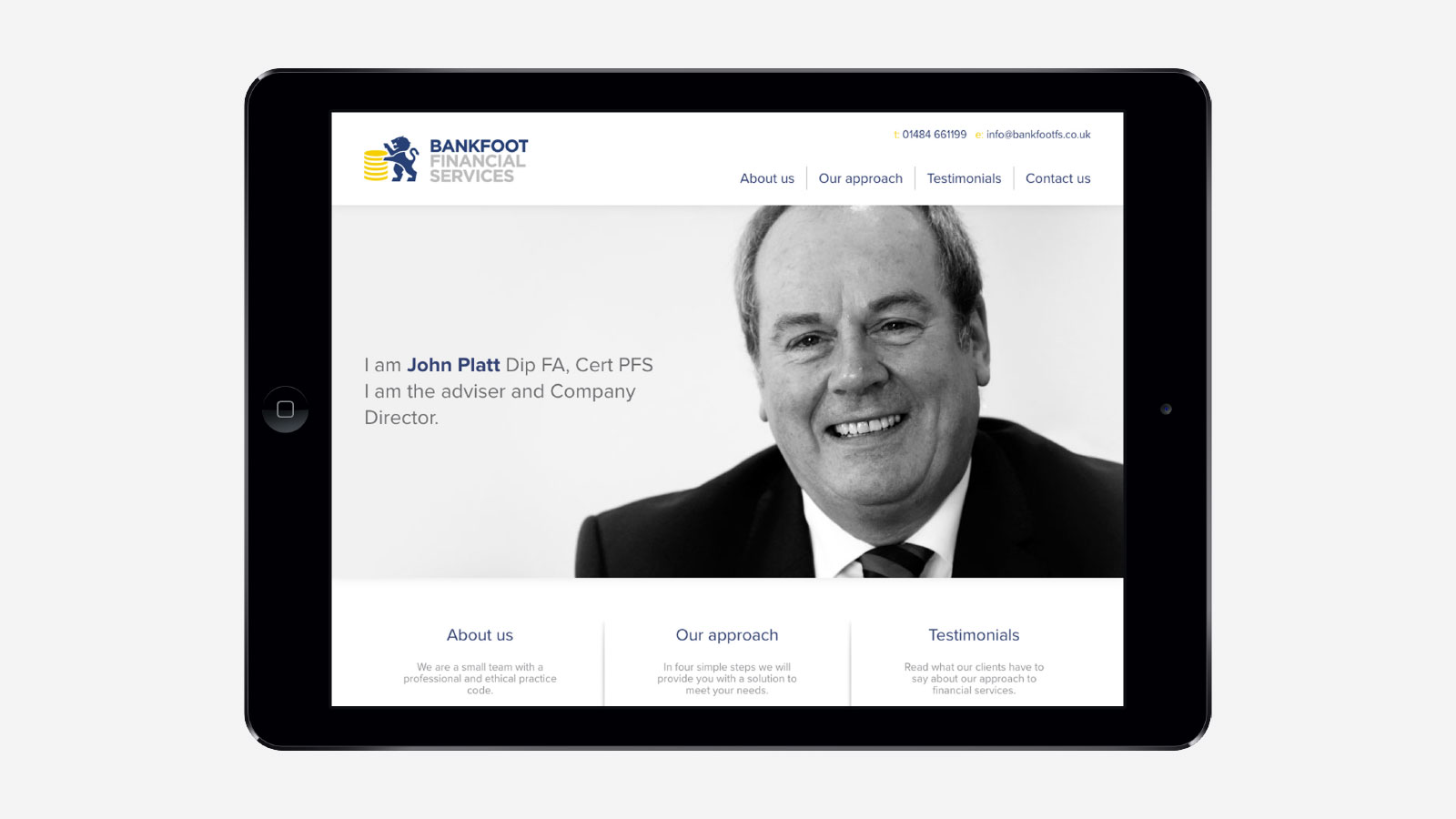Bankfoot Financial Services Website Design