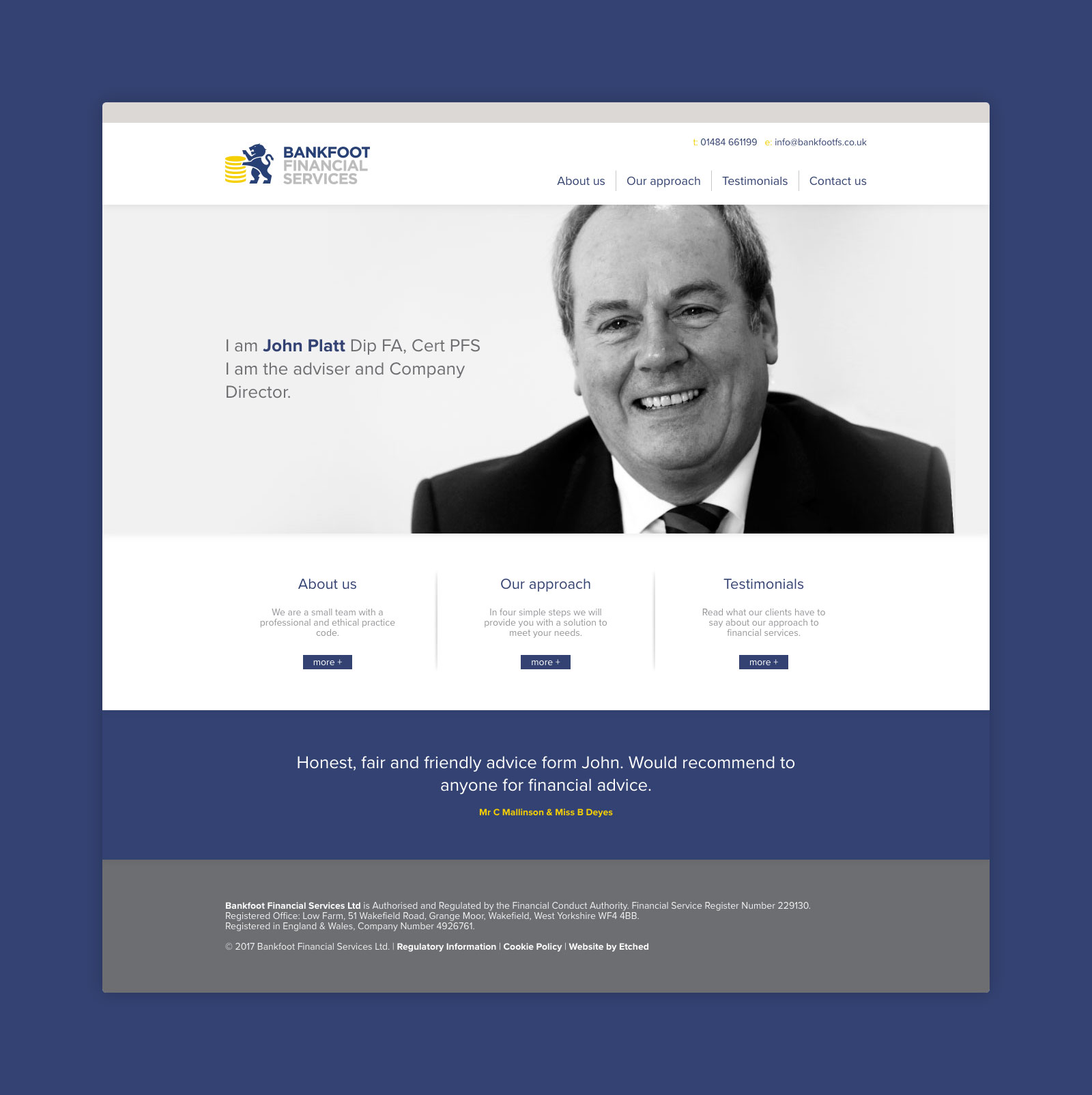Bankfoot Financial Services Branding Website Design