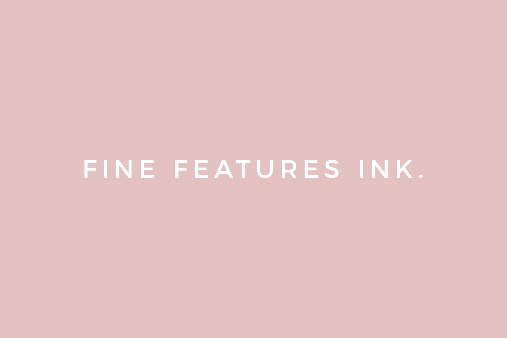 Fine Features Ink