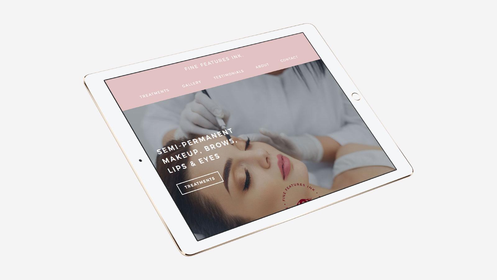 Fine Features Ink Website Design