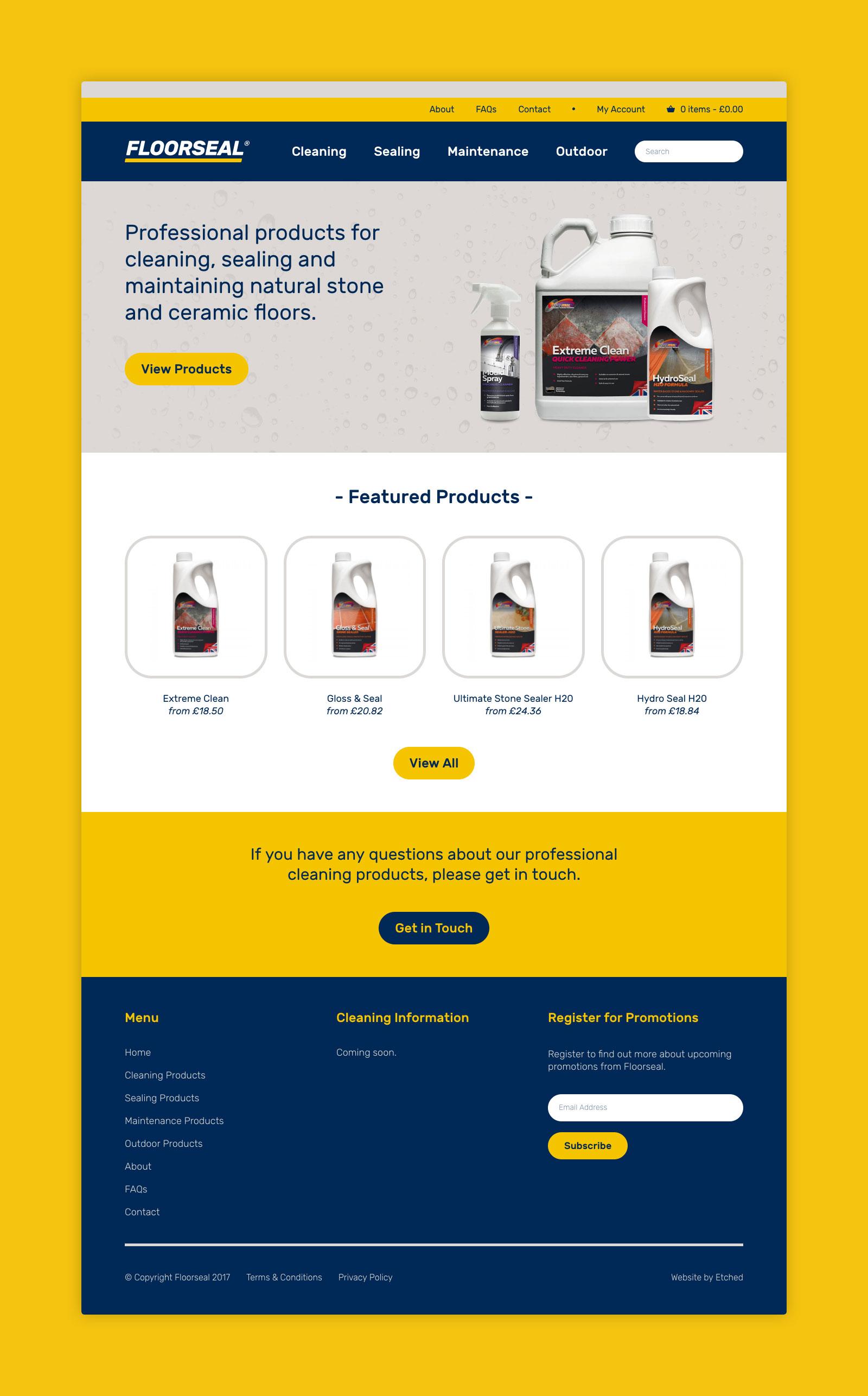 Floorseal Website Design