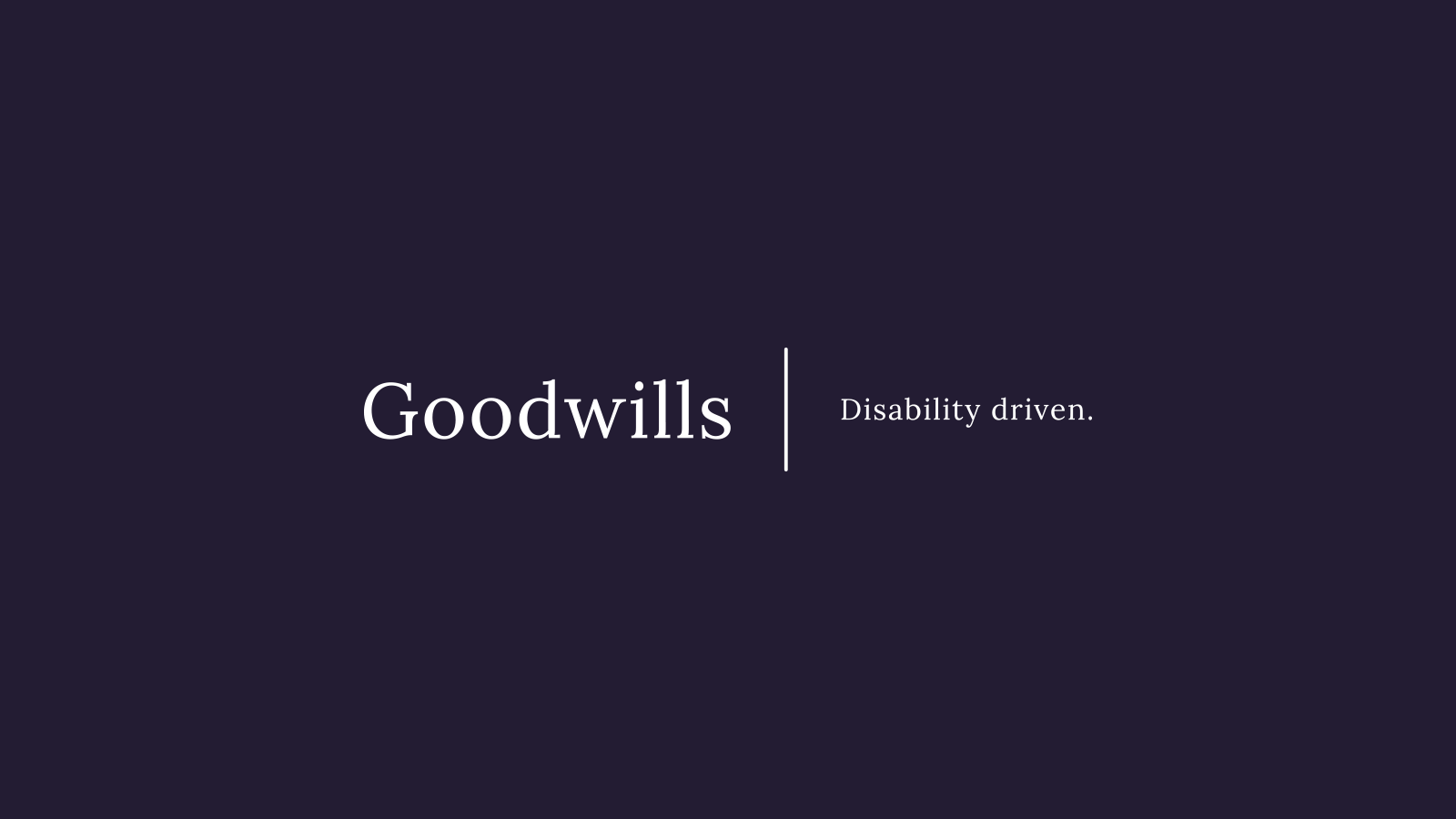 Goodwills Branding Design