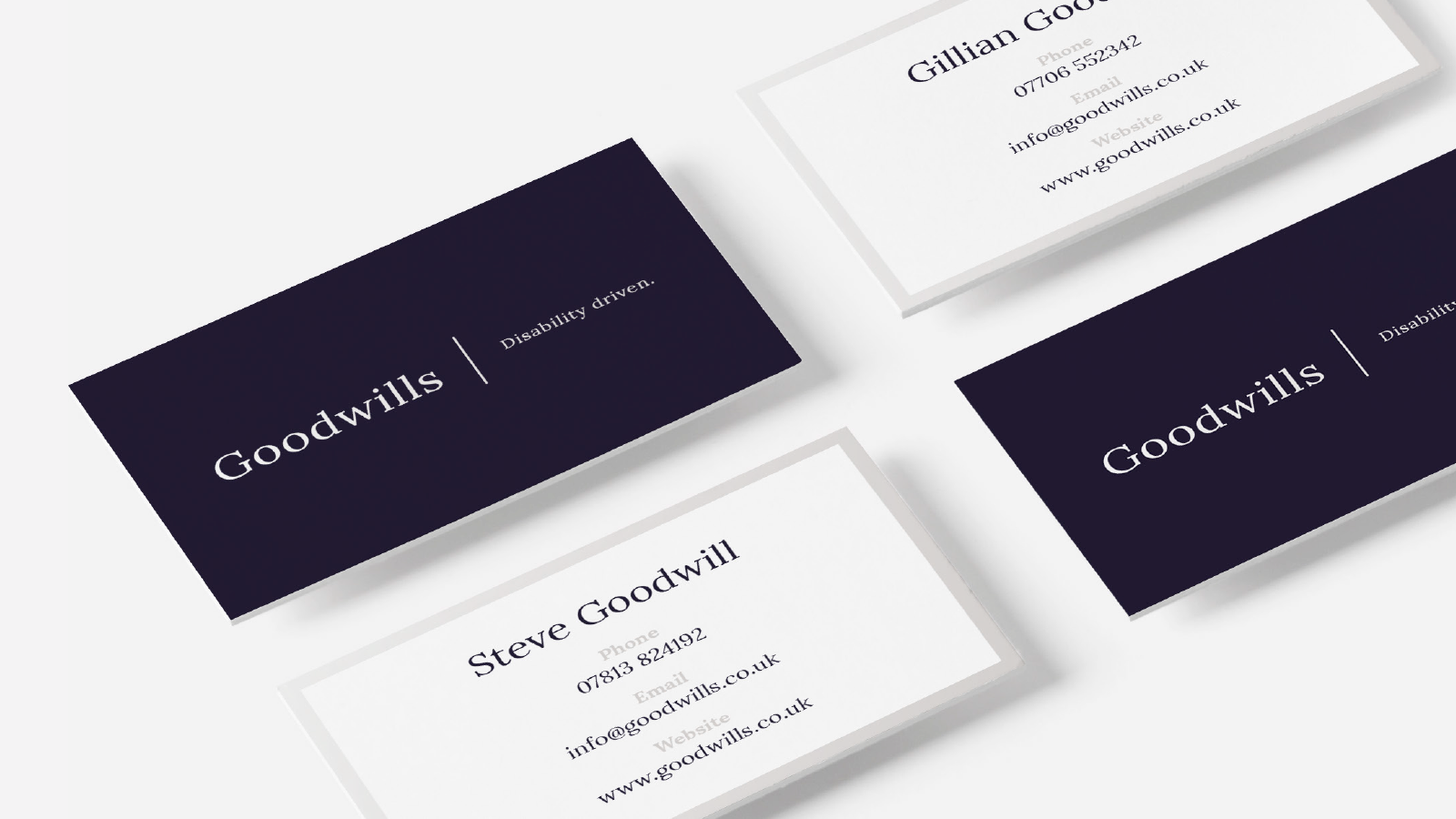 Goodwills Business Card Design