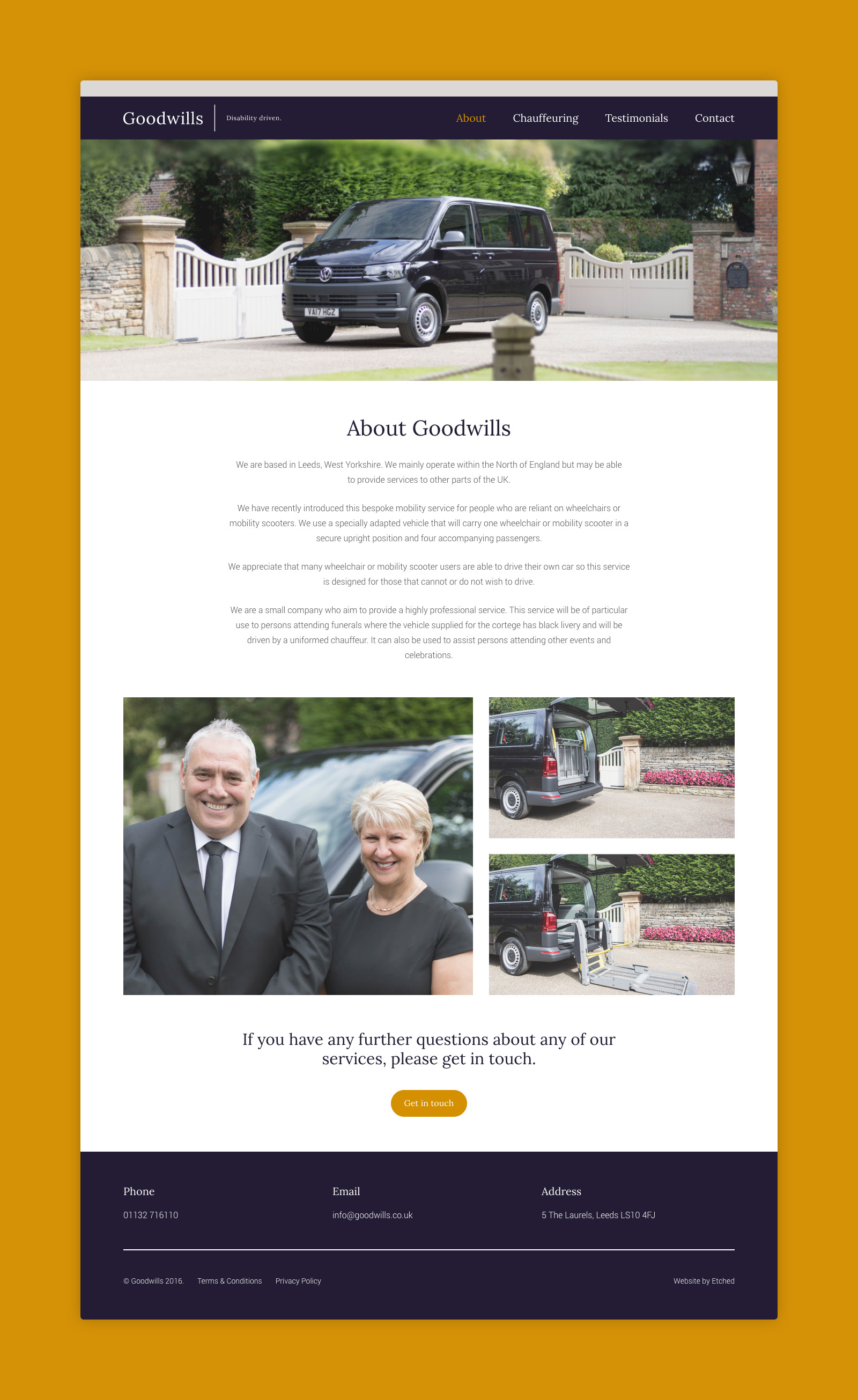 Goodwills Website Design