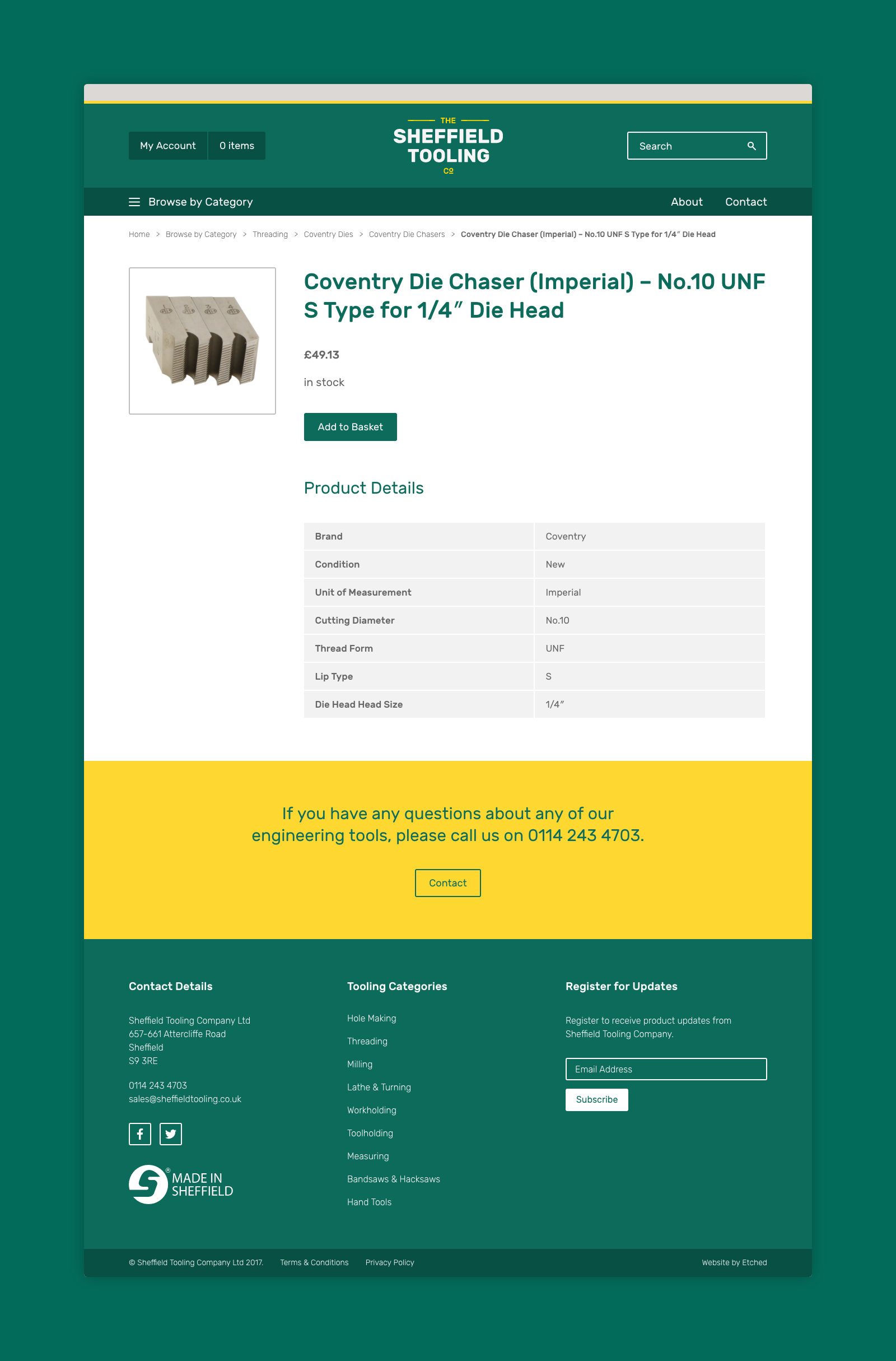 Sheffield Tooling Company Website Design